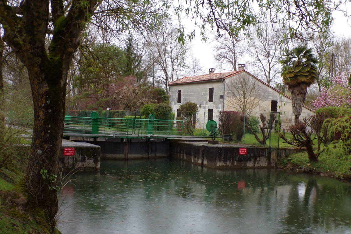 Saint-Simon - L'écluse de Juac (21 mars 2017)