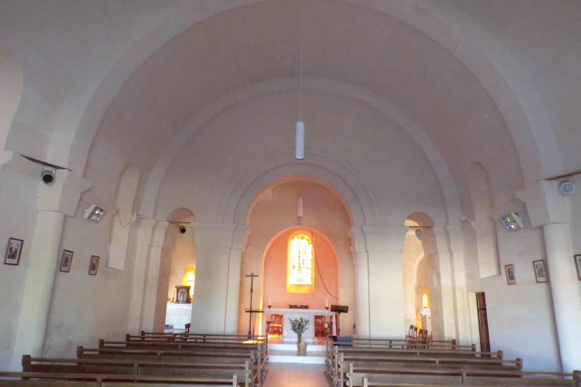Saint-Sulpice de Cognac - L'église Saint Sulpice - Vue de l'entrée (12 avril 2017)
