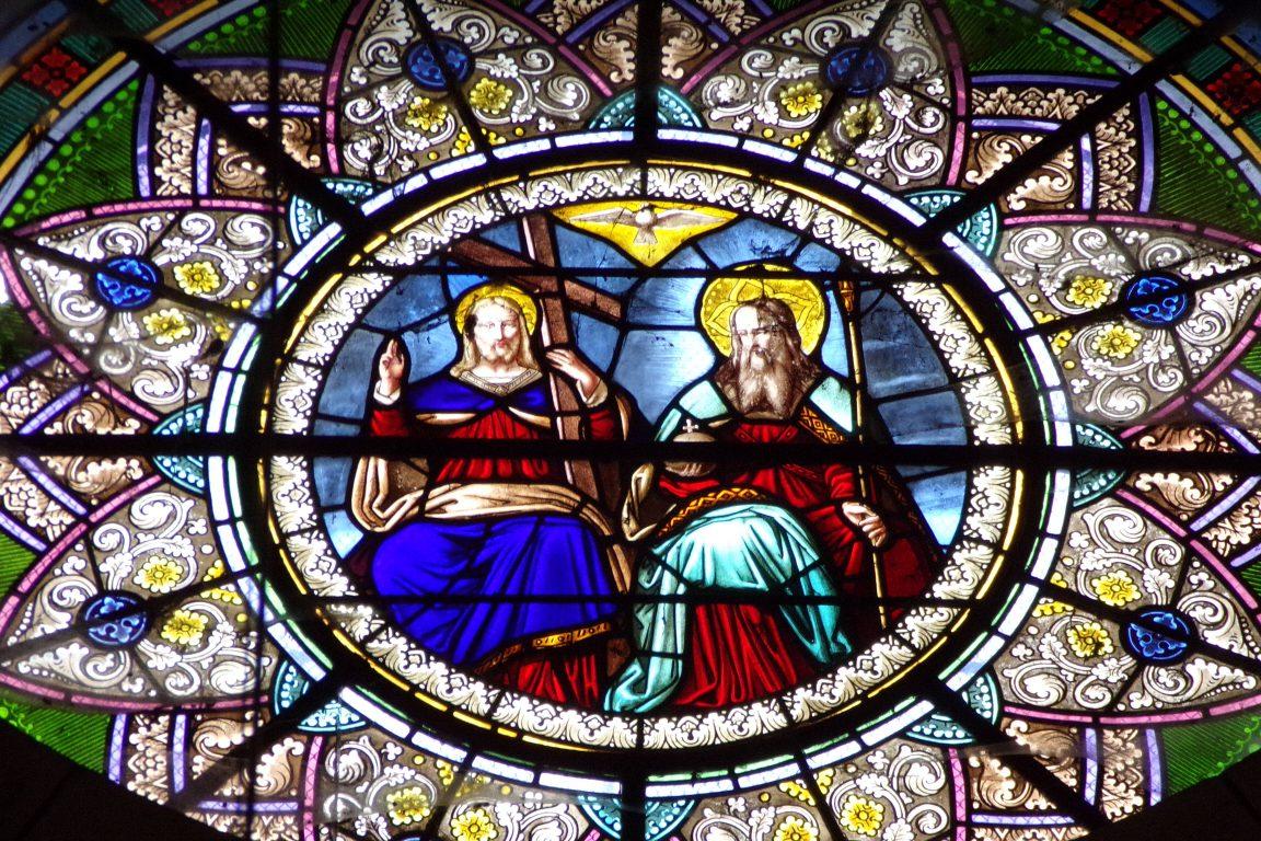Bouteville - L'église Saint-Paul - Le vitrail (21 mars 2017)