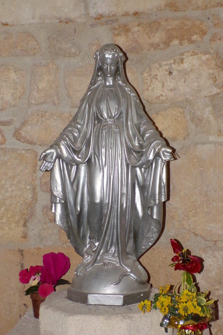 Burie - L'église Saint-Léger - La Vierge miraculeuse (13 avril 2017)