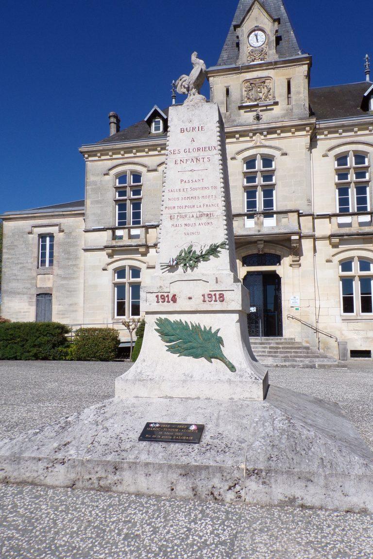 Burie - Le monument aux morts (12 avril 2017)