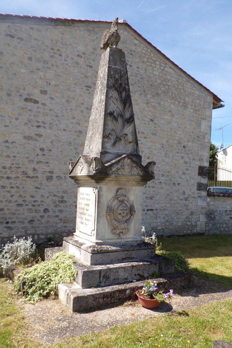 Saint-Preuil - Le monument aux morts (15 mai 2017)