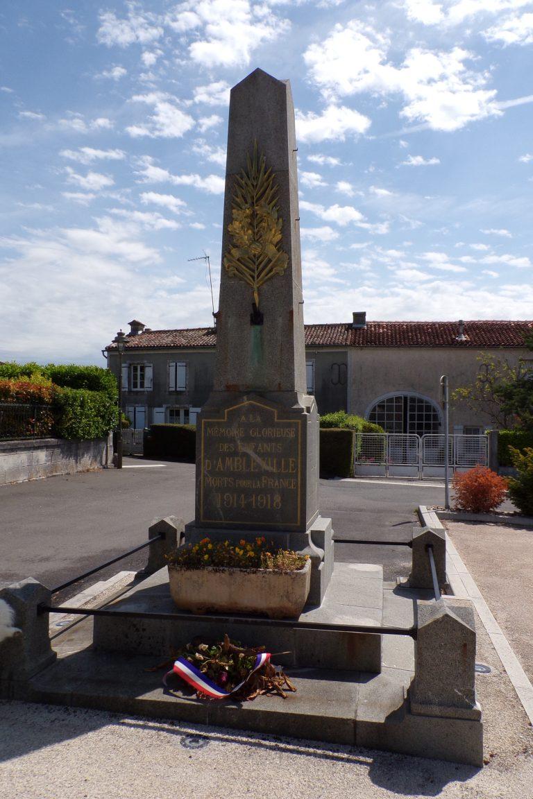 Ambleville - Le monument aux morts (22 mai 2017)
