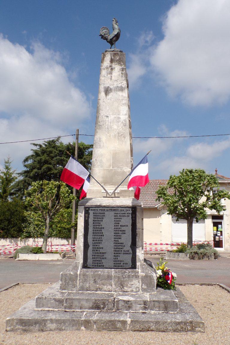 Juillac-le-Coq - Le monument aux morts (8 mai 2017)
