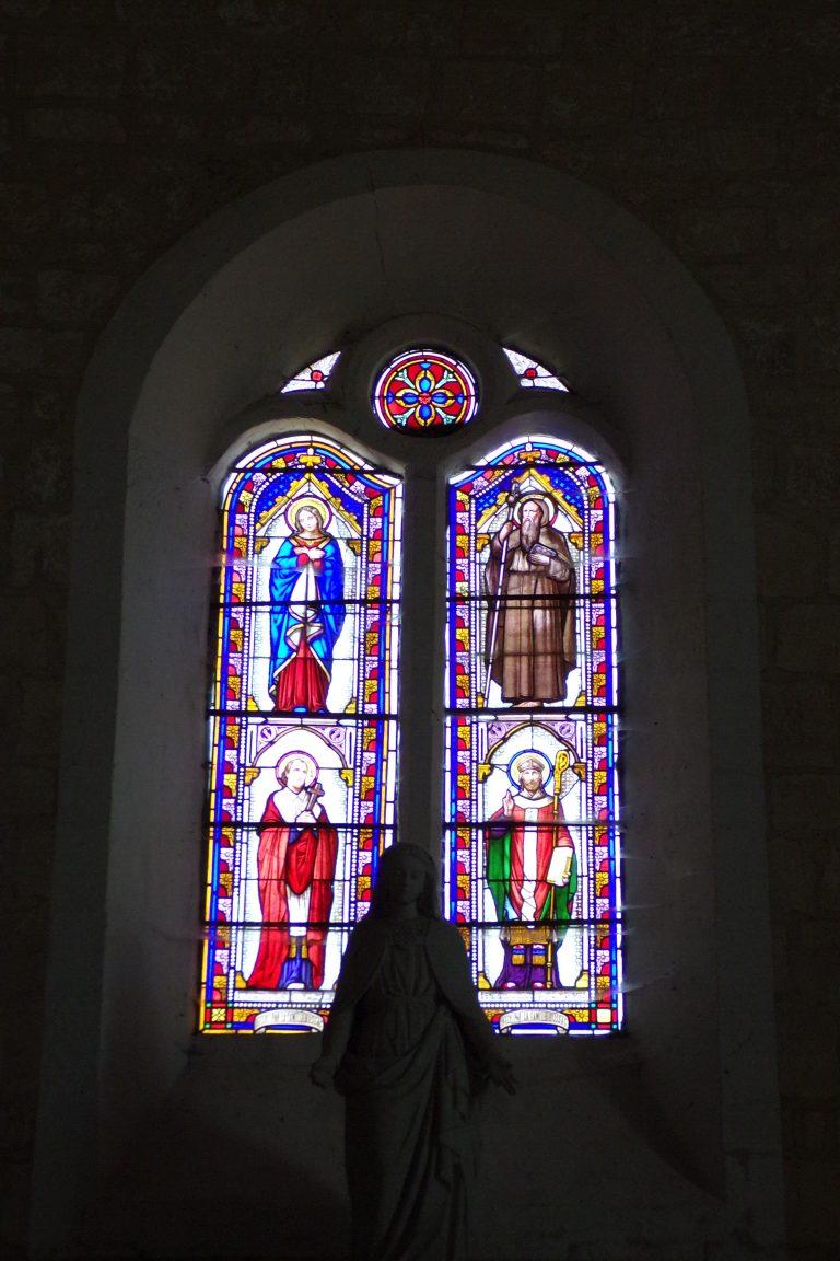 L'église Saint-Aubin - Le vitrail (12 juin 2017)