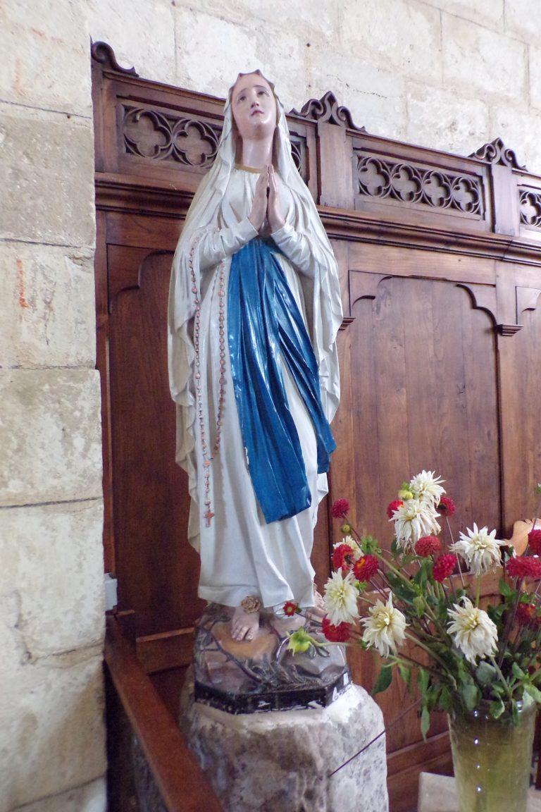 Foussignac - L'église Saint-Cybard-et-Saint-Laurent - Vierge miraculeuse (15 juin 2017)