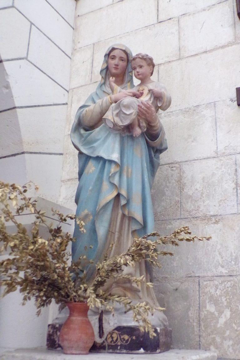 Foussignac - L'église Saint-Cybard-et-Saint-Laurent - Marie à l'enfant (15 juin 2017)