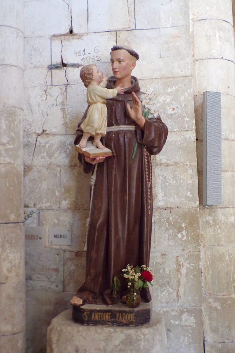 Foussignac - L'église Saint-Cybard-et-Saint-Laurent - Saint Antoine de Padoue (15 juin 2017)