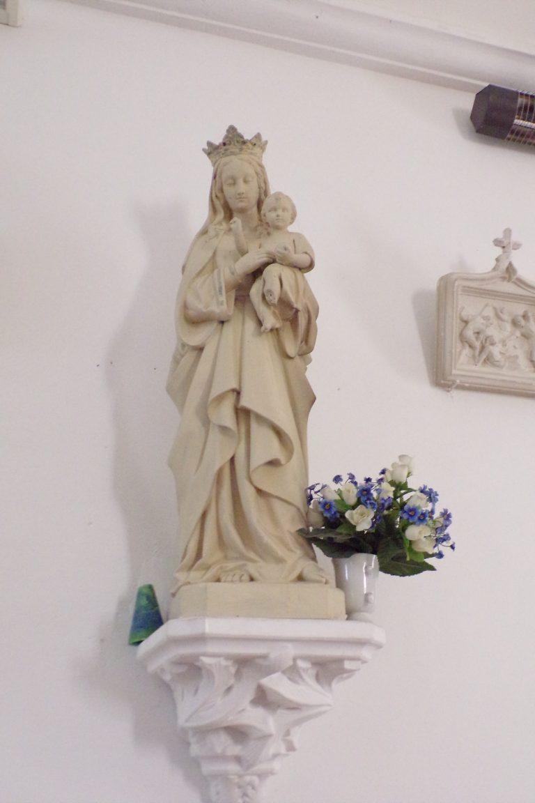 Fleurac - L'église Sainte-Élisabeth- Vierge et l'Enfant (15 juin 2017)