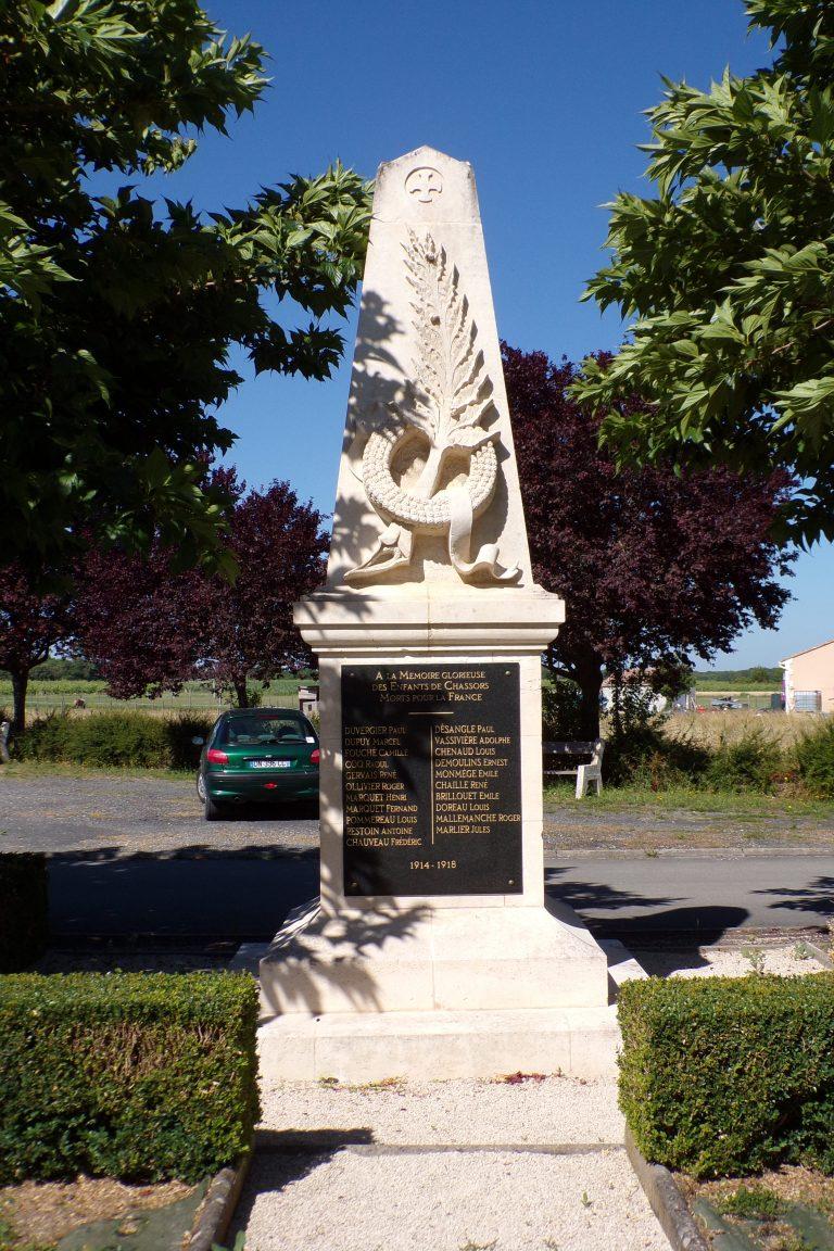 Chassors - Le monument aux morts (17 juin 2017)