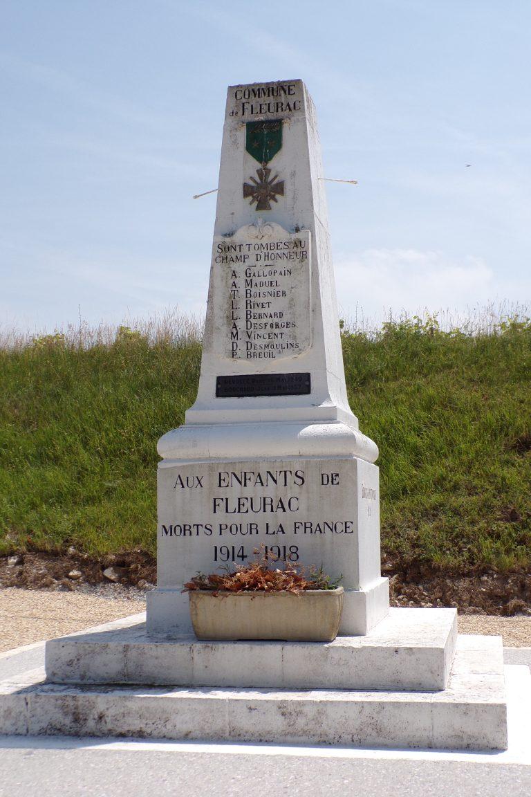 Fleurac - Le monument aux morts (15 juin 2017)