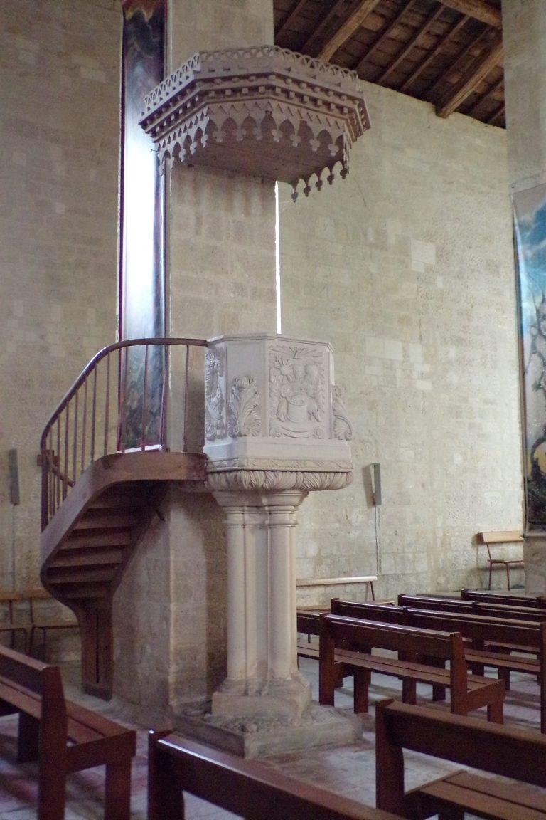Matha - L'église Sainte-Hérie - La chaire (21 juillet 2017)