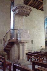Matha - L'église Sainte-Hérie - La chaire(21 juillet 2017)