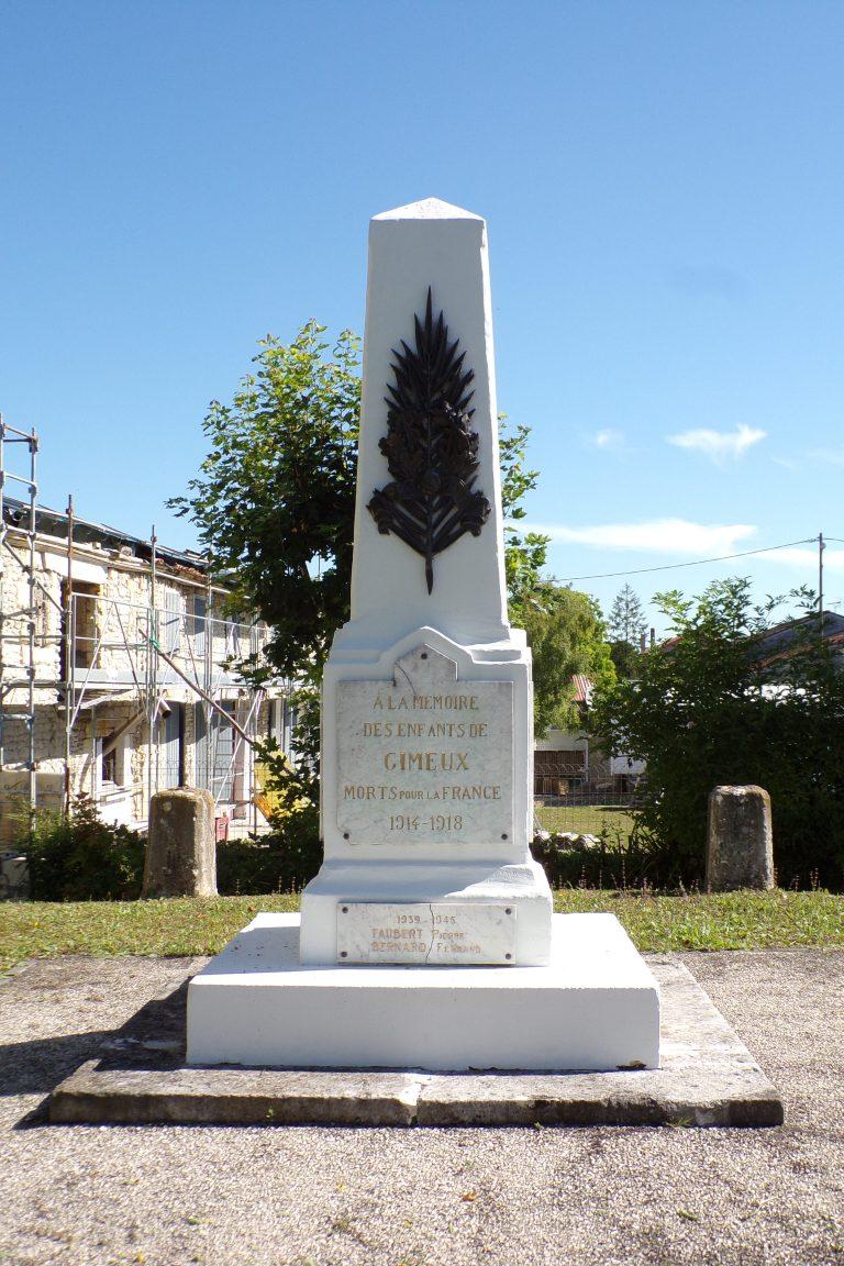 Gimeux - Le monument aux morts (4 juillet 2017)