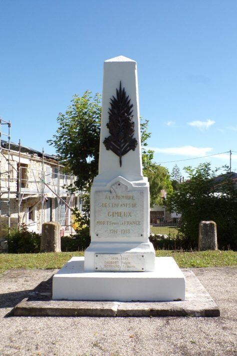 Monument aux morts de Gimeux (4 juillet 2017)
