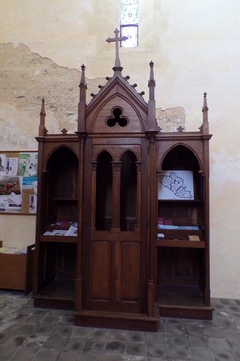 Lignières-Sonneville - L'église Notre-Dame - Le confessionnal (1 novembre 2017)