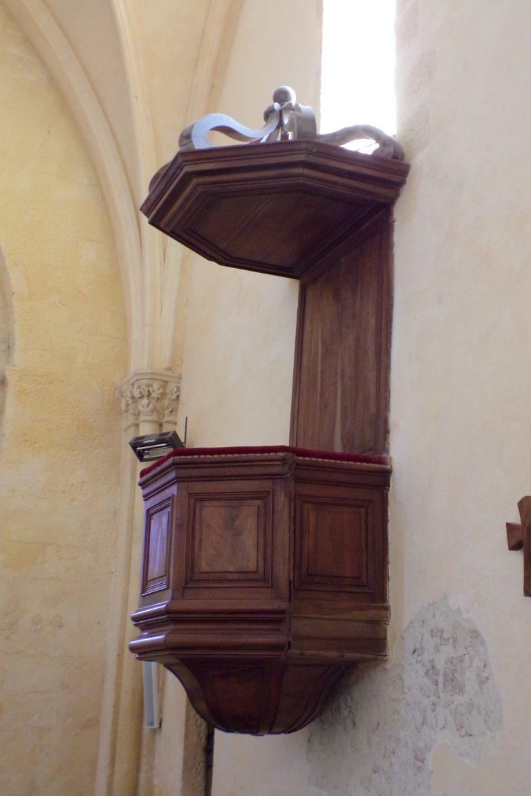 Lignières-Sonneville - L'église Notre-Dame - La chaire (1 novembre 2017)