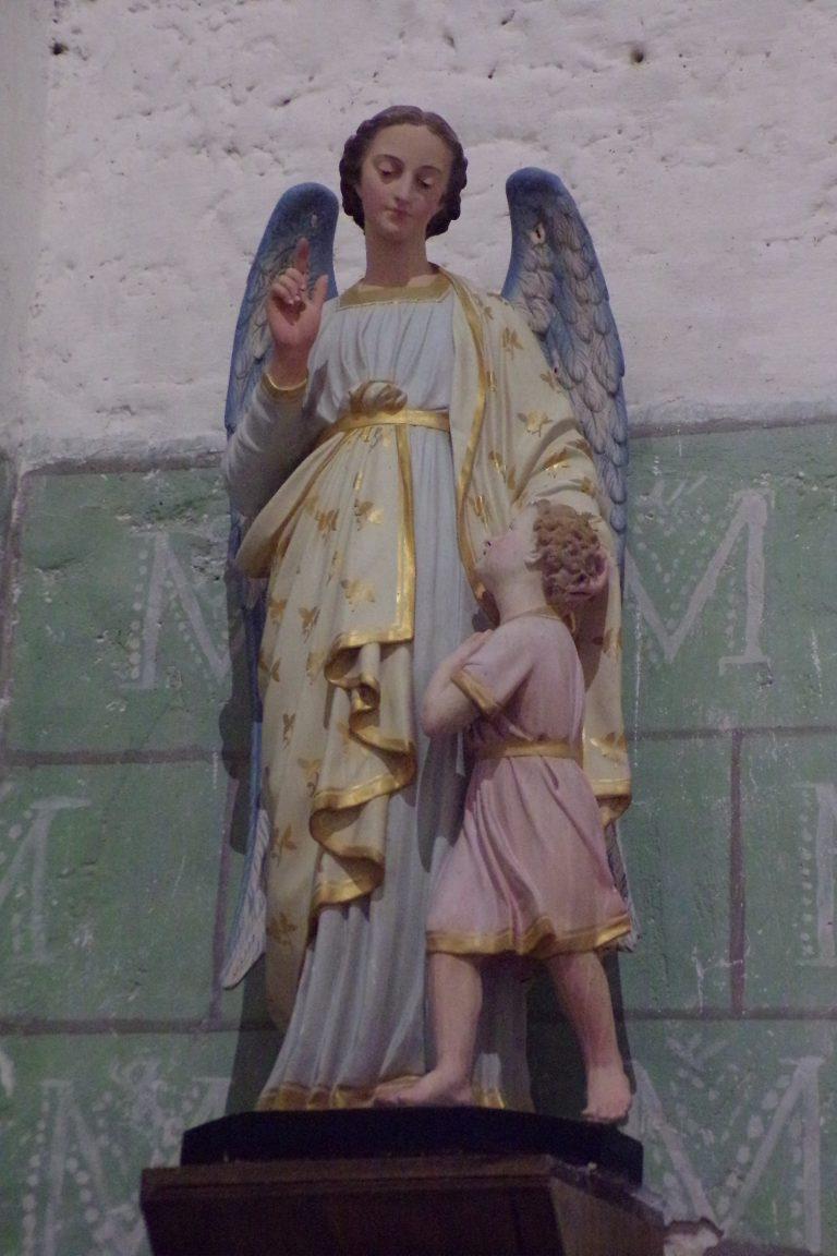 Sonnac - L'église Saint-Etienne - Un ange (2 janvier 2018)