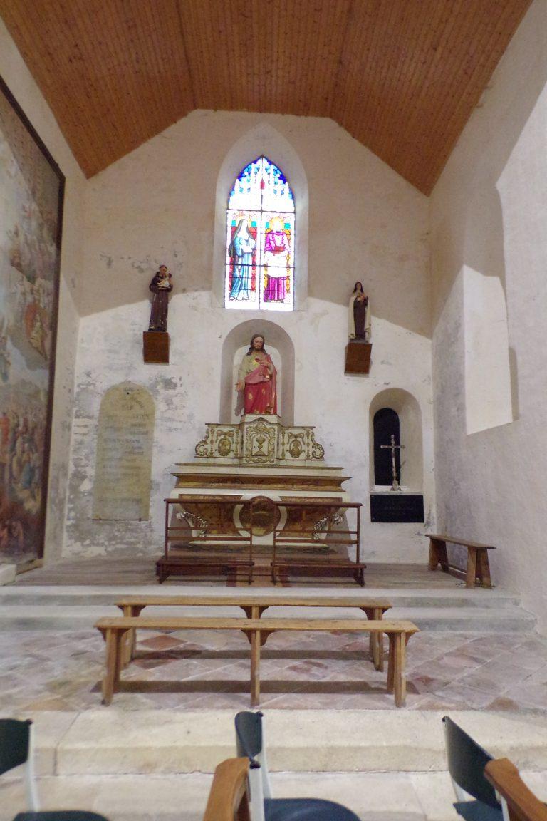 Sonnac - L'église Saint-Etienne - Le Choeur (2 janvier 2018)