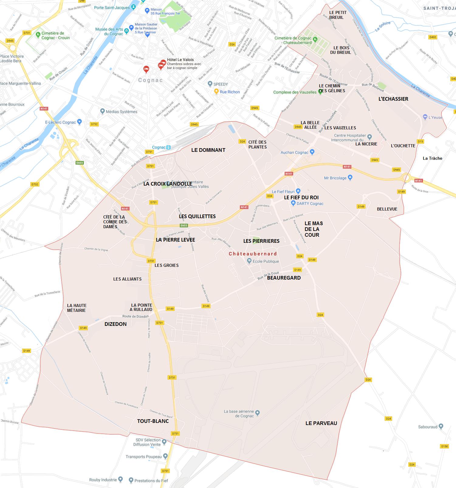 Hameaux de Châteaubernard