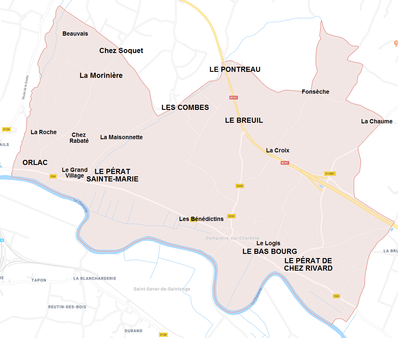 Hameaux de Dompierre sur Charente