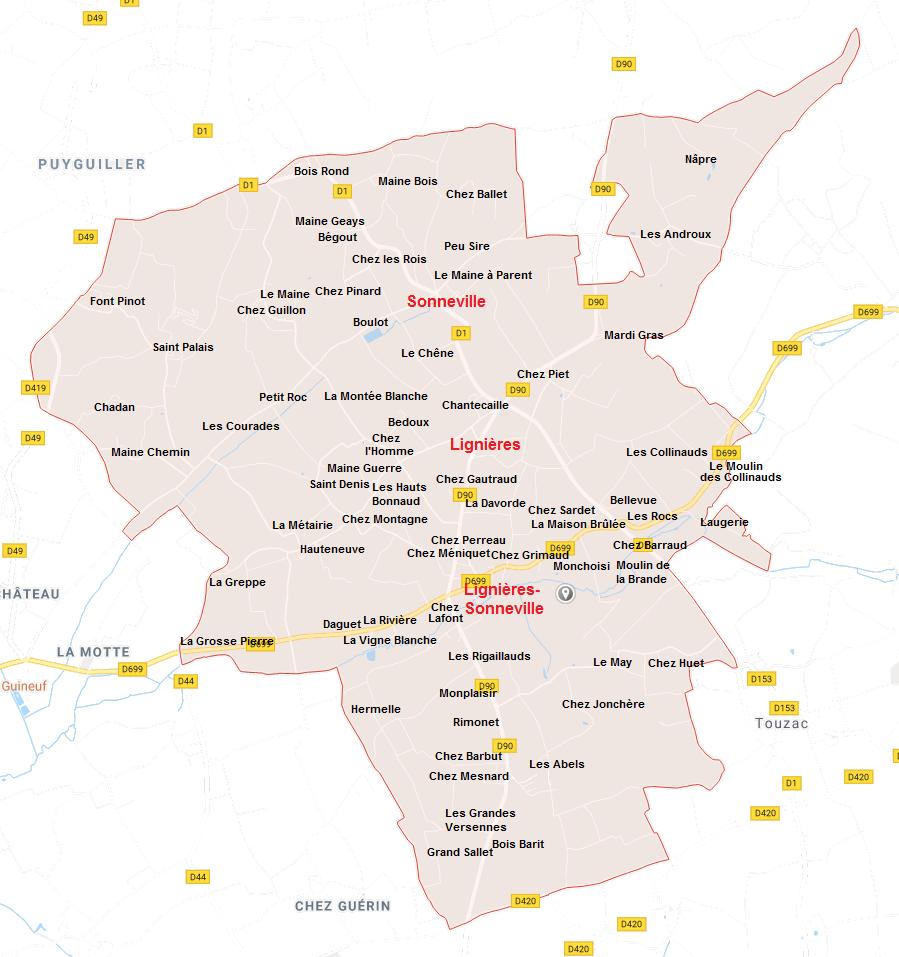 Hameaux de Lignières-Sonneville