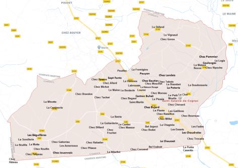 Hameaux de Saint-Sulpice de Cognac