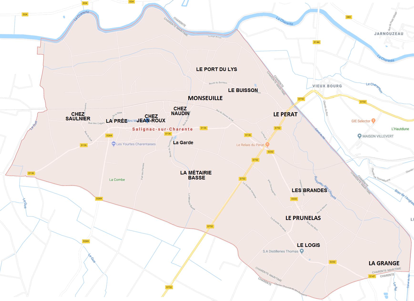 Hameaux de Salignac sur Charente