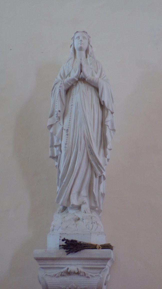 Boutiers - L'église Saint-Antoine - La Vierge Marie (23 avril 2018)
