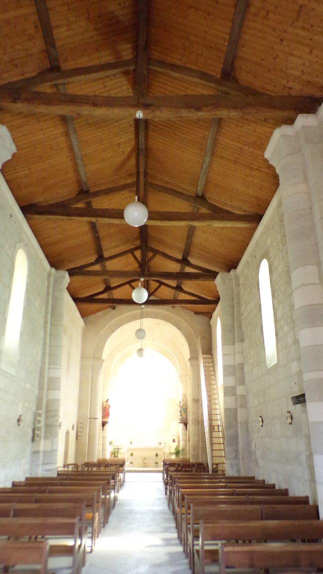 Gimeux - L'église Saint-Germain - Vue de l'entrée (5 avril 2018)