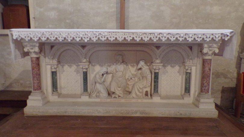 Réparsac - L'église Saint-Pierre - L'autel (10 avril 2018)