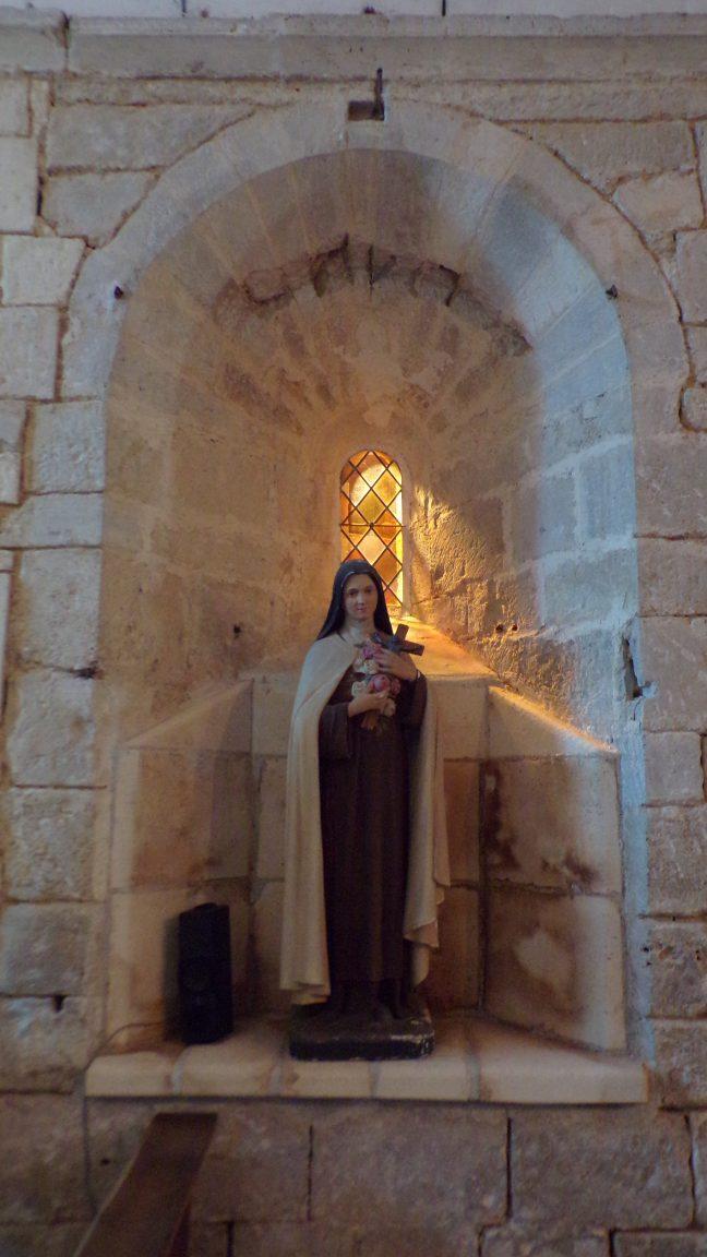 Réparsac - L'église Saint-Pierre - Sainte Thérèse de Lisieux dite »Sainte Thérèse de l'Enfant Jésus » (10 avril 2018)