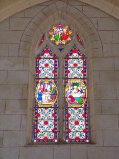Mainxe - L'église Saint-Maurice - Le vitrail (7 mai 2018)