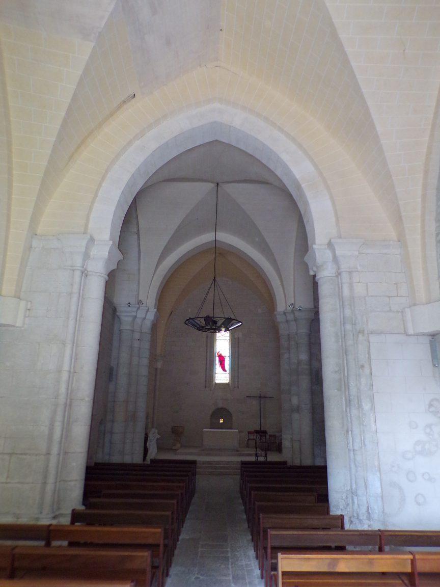 Merpins - L'église Saint-Rémy - Vue de l'entrée (28 mai 2018)