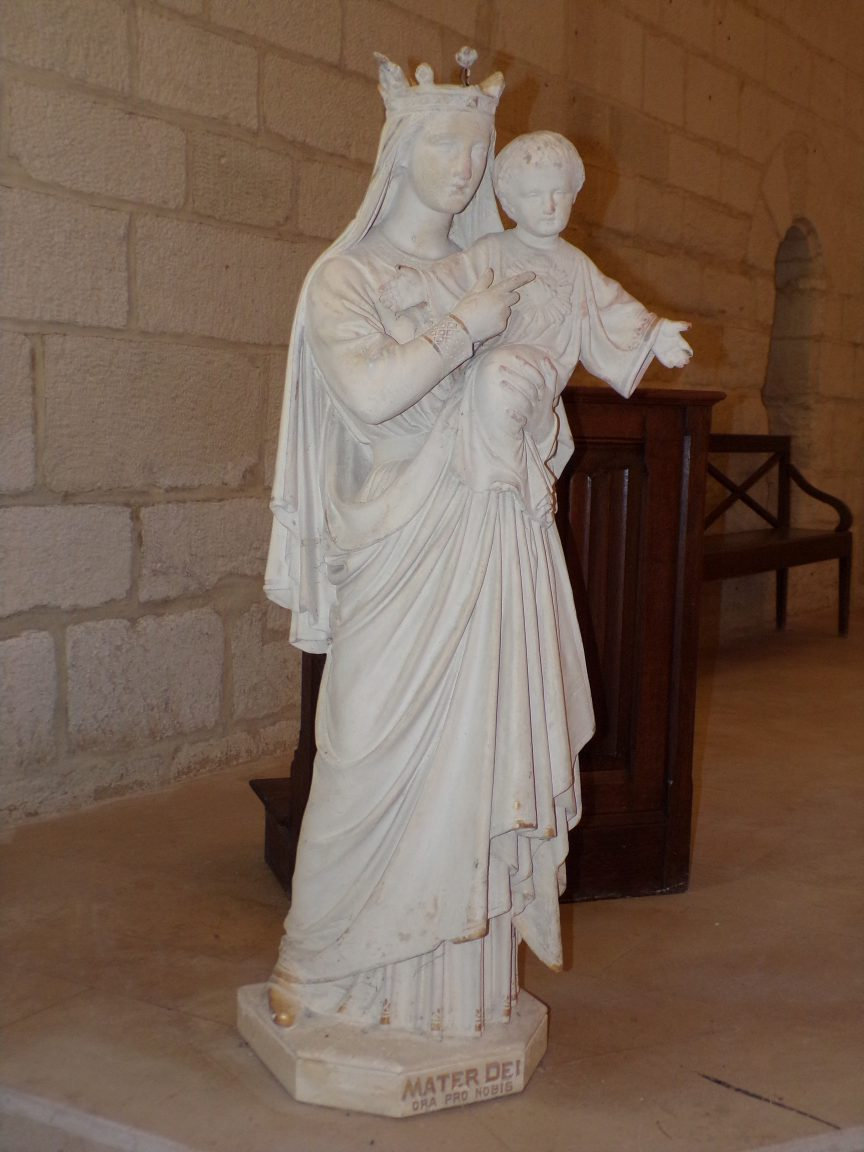 Merpins - L'église Saint-Rémy - Mater Dei 'Ora pro nobis' (28 mai 2018)