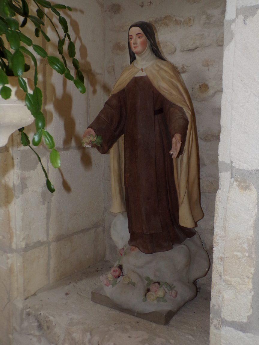 """Dompierre-sur Charente - L'église Saint-Blaise - Sainte Thérèse de Lisieux dite """"Sainte Thérèse de l'Enfant Jésus"""" (8 juin 2018)"""
