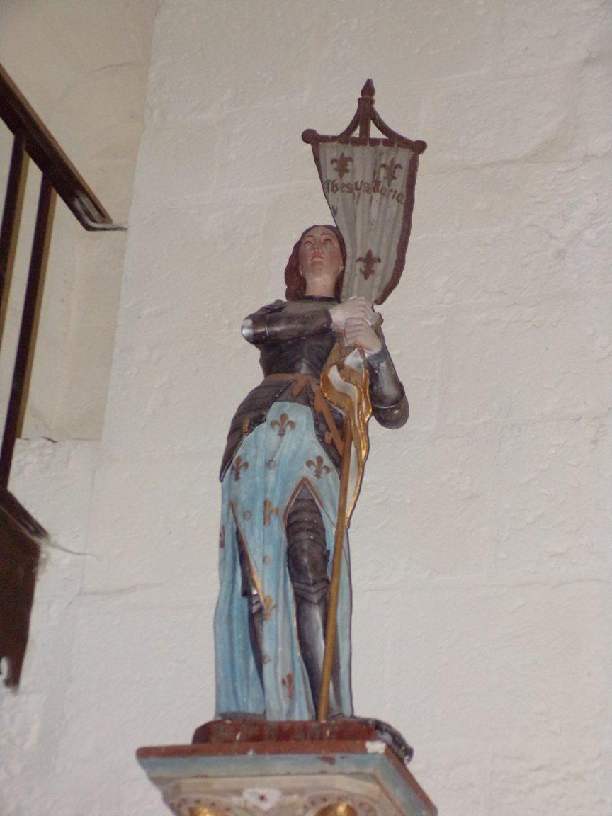 Louzac - L'église Saint-Martin - Jeanne d'Arc (6 juin 2018)