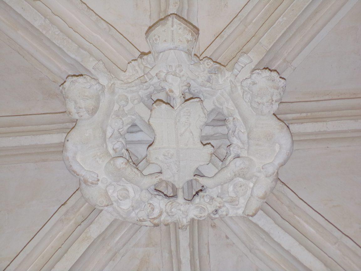 Merpins - L'abbaye Notre-Dame de la Frenade - Une clé de voûte (4 juin 2018)