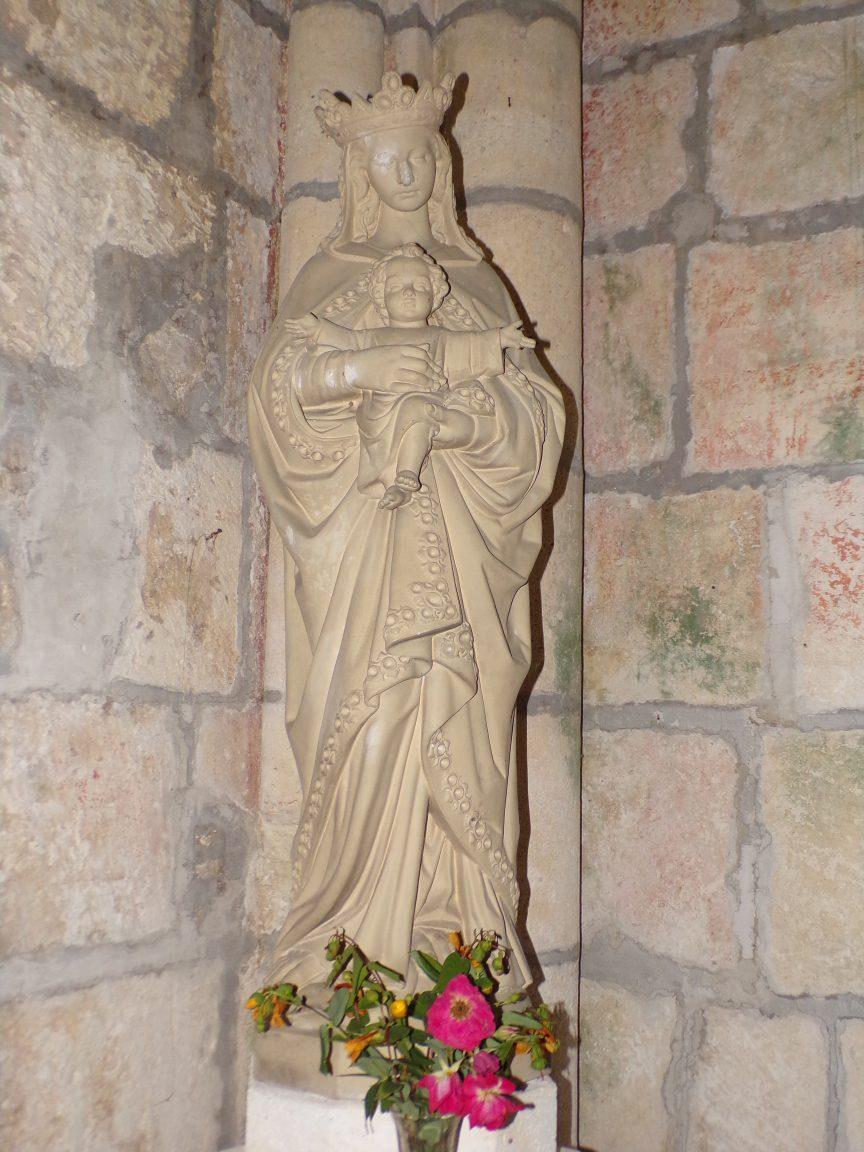 Saint-Preuil - L'église Saint-Projet - Vierge à l'Enfant (20 juin 2018)