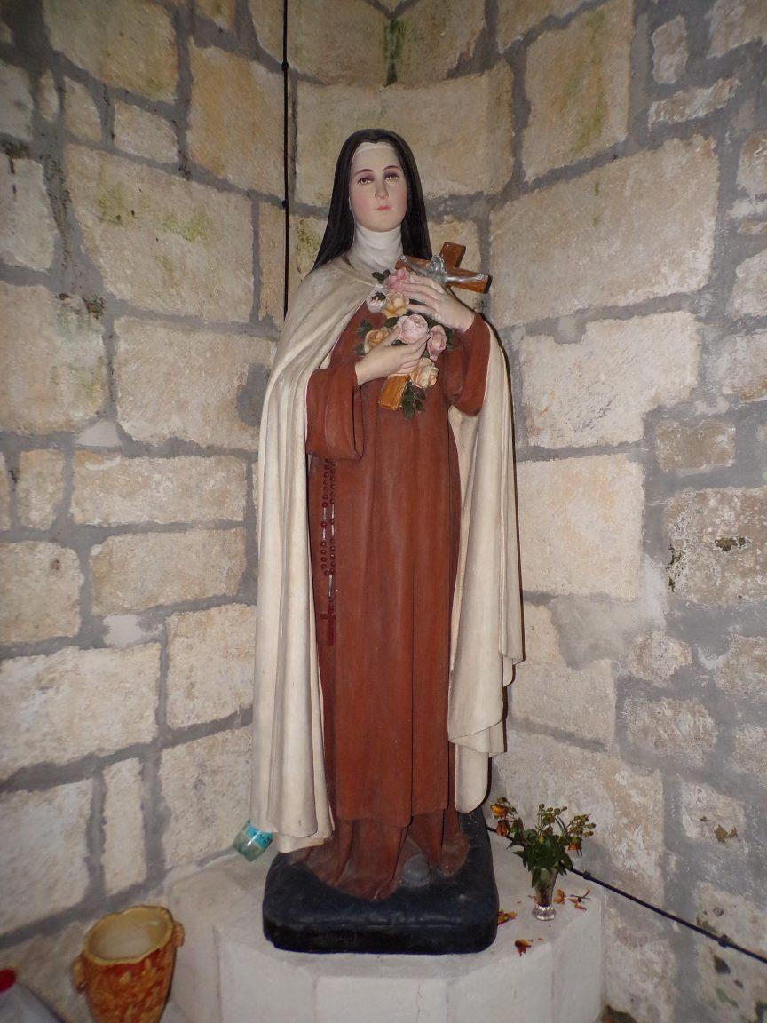"""Saint-Preuil - L'église Saint-Projet - Sainte Thérèse de Lisieux dite """"Sainte Thérèse de l'Enfant Jésus"""" (20 juin 2018)"""