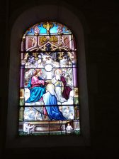 Salignac-sur-Charente - L'église Saint-Louis - Le vitrail 'Domina...' (27 juin 2018)