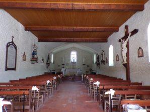 Salignac-sur-Charente - L'église Saint-Louis - Vue de l'entrée (27 juin 2018)