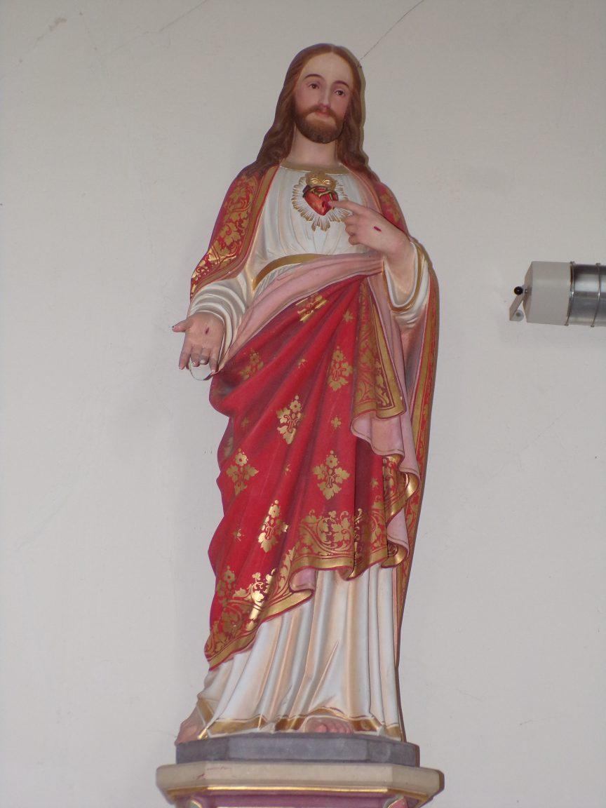 Celles - L'église Saint-Christophe - Sacré Coeur de Jésus (12 juillet 2018)