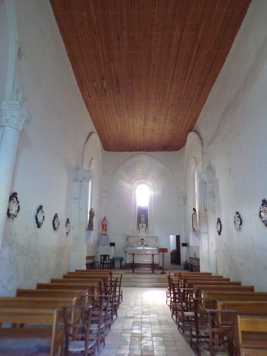 Cierzac - L'église Notre-Dame - Vue de l'entrée (18 juillet 2018)