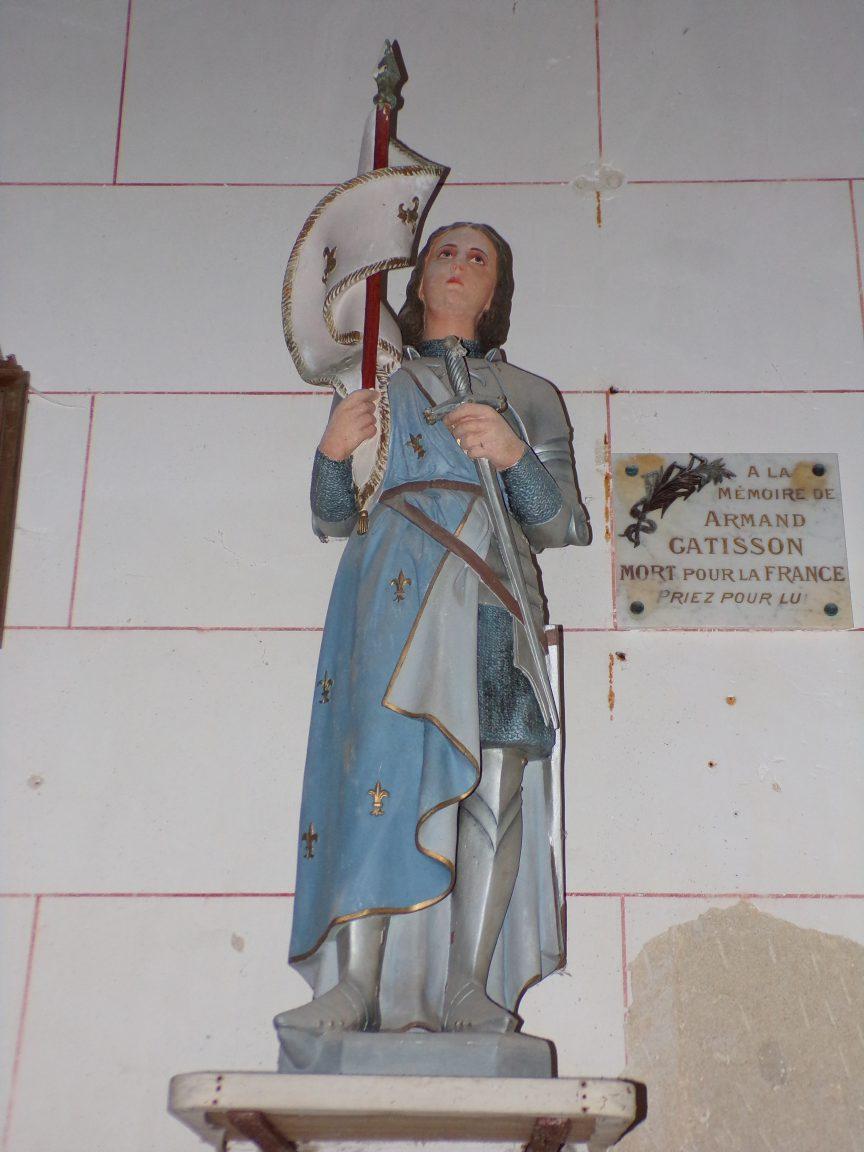 Courbillac - L'église d'Herpes - Jeanne d'Arc (23 juillet 2018)