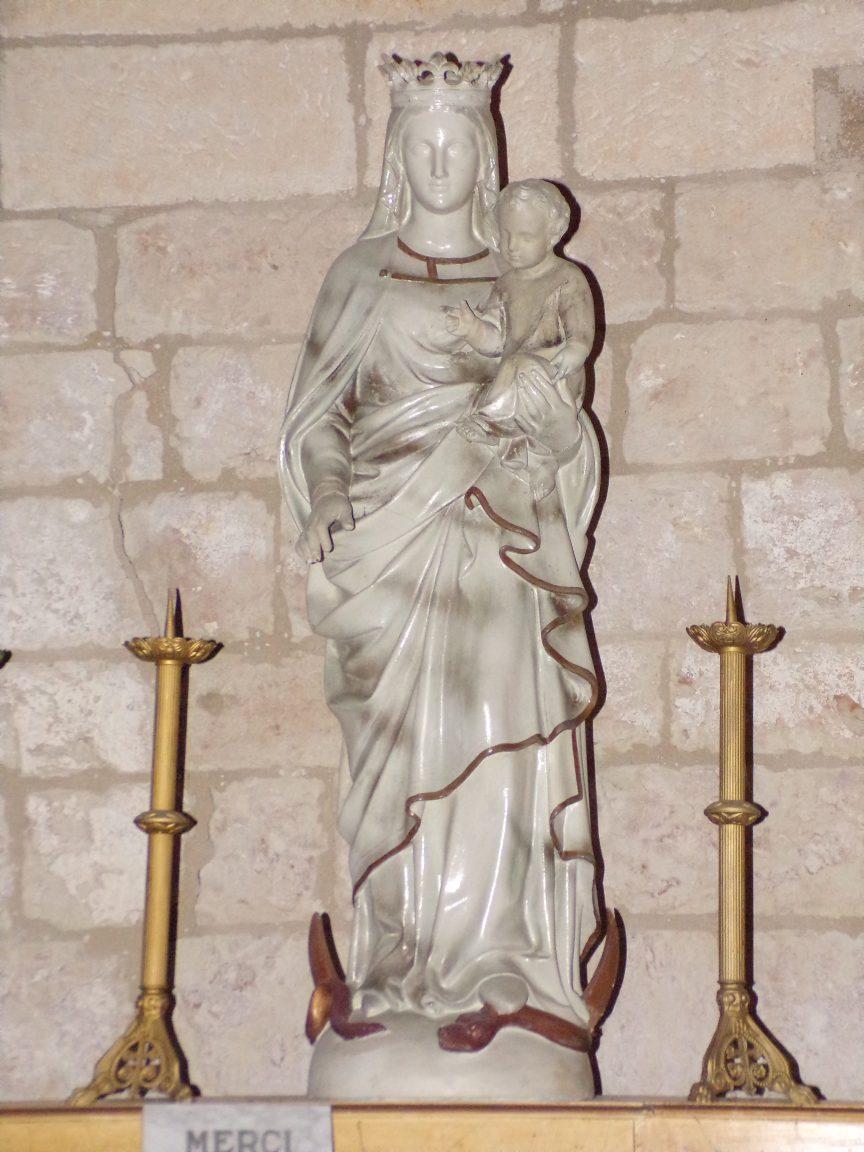 Germignac - L'église Saint-Pierre - La Vierge et l'Enfant (17 juillet 2018)