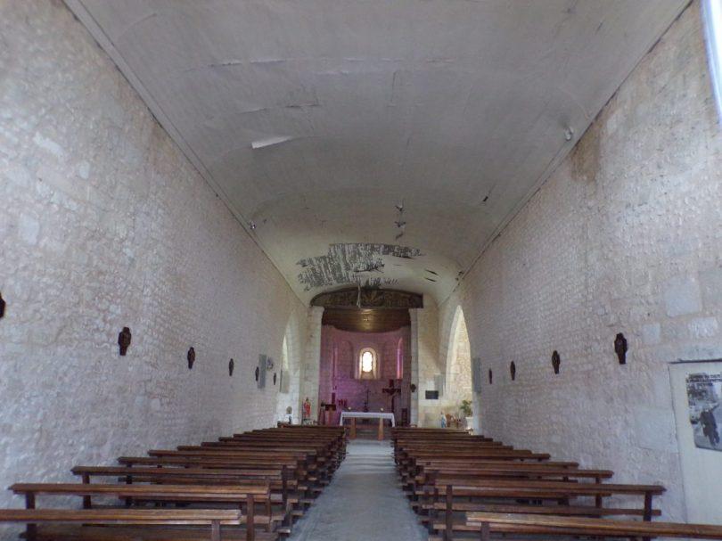 Rouffiac - L'église Saint-Vivien - Vue de l'entrée (17 juillet 2018)