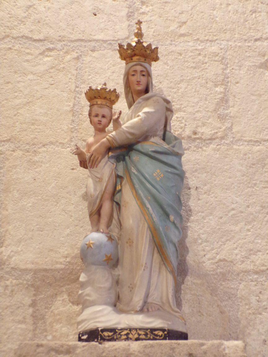 Saint-Brice - L'église Saint-Brice - Vierge à l'Enfant (25 juillet 2018)