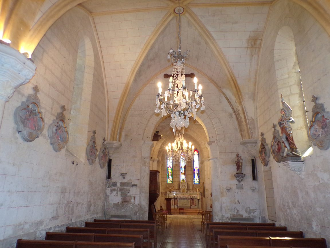 Saint-Brice - L'église Saint-Brice - Vue de l'entrée (25 juillet 2018)