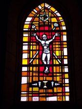 Saint-Martial sur le Né - L'église Saint-Martial - Un vitrail (17 juillet 2018)
